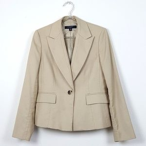 Nine West One Button Fitted Blazer Size 6